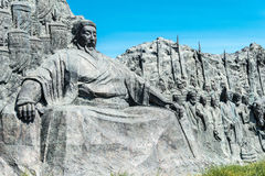 L'INNER MONGOLIA, CHINE - 10 août 2015 : Kublai Khan Statue au site photo libre de droits