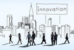 L'innovation innovent concept de construction de développement d'invention image libre de droits