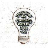 L'innovazione è creatività Immagini Stock