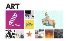 L'innovazione amplifica lo stile Art Graphic Concept Immagini Stock Libere da Diritti