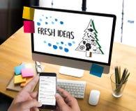 L'innovazione di progettazione di idee di IDEE ORIGINALI pensa la strategia obiettiva, N fotografie stock