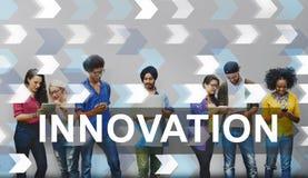 L'innovazione innova concetto di progetto dello sviluppo di invenzione fotografia stock libera da diritti