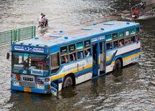 L'inondation thaïe heurte le central de la Thaïlande Photo stock
