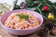 L'insalata del nuovo anno fotografia stock