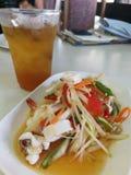 L'insalata della papaia è popolare in Tailandia Fotografie Stock Libere da Diritti