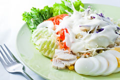 L'insalata si è mescolata per sano Immagine Stock Libera da Diritti