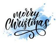 L'inscription calligraphique de Joyeux Noël a décoré marquer avec des lettres le texte illustration stock