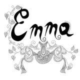 L'inscription de la femelle appelée Emma illustration libre de droits