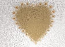l'inscription de la forme de coeur avec des fleurs Photographie stock libre de droits