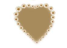 l'inscription de la forme de coeur avec des fleurs Images stock