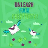 L'inscription des textes d'écriture lâchent votre créativité E illustration libre de droits