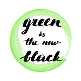 L'inscription du vert d'inscription est le nouveau noir illustration libre de droits