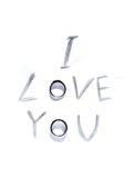 L'inscription l amour vous Photographie stock