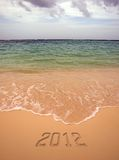 L'inscription sur le sable - 2012 Image stock