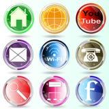 L'insegna abbottona le icone di web. Immagini Stock