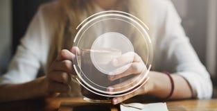 L'insegna annuncia il concetto del modello del messaggio dello Copia-spazio fotografia stock