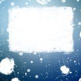L'insegna di lerciume con macchiato di inchiostro bianco spruzza Fotografie Stock