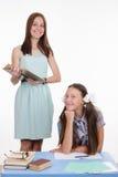 L'insegnante ed il migliore studente Fotografia Stock Libera da Diritti