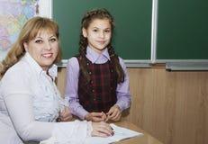 L'insegnante spiega Immagine Stock