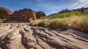 L'insenatura di Piccaninny nel periodo di siccità, nel Bungle di Bungle varia, Fotografia Stock Libera da Diritti