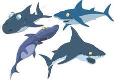 L'insieme completo degli squali royalty illustrazione gratis