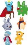L'insieme completo dei giocattoli royalty illustrazione gratis