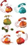 L'insieme completo dei telefoni illustrazione di stock