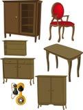 L'insieme completo di mobilia illustrazione di stock