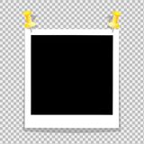 L'insieme d'annata del telaio della foto ? punteggiato ai fermacarti della parete Dall'ombra dei precedenti pro-professionali Fot illustrazione vettoriale