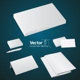 L'insieme dei prodotti di stampa dell'ufficio, deride sul vettore 3d Fotografia Stock