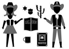 L'insieme del cowboy Immagine Stock Libera da Diritti