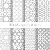 L'insieme del fondo tradizionale islamico di vettore astratto simmetrico nello stile arabo fatto di imprime le forme geometriche Fotografia Stock Libera da Diritti