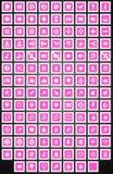 L'insieme del gioco quadrato piano si abbottona nello stile del fumetto Fotografia Stock Libera da Diritti