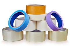 L'insieme del nastro adesivo è impilato nella forma di piramide fotografie stock libere da diritti