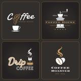 L'insieme del negozio di caffè americano badges ed etichette Fotografia Stock