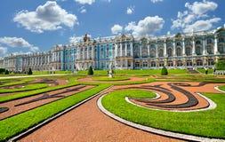 L'insieme del palazzo e del parco di Tsarskoye Selo, Pietroburgo Immagini Stock Libere da Diritti