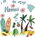 L'insieme del profilo nazionale dell'Hawai Fotografia Stock Libera da Diritti