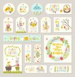 L'insieme del regalo di Pasqua etichetta ed etichette Immagine Stock