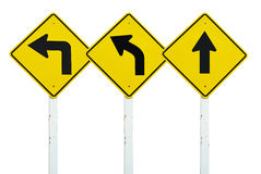 L'insieme del simbolo del segnale di direzione di traffico ha isolato Fotografie Stock