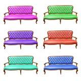 L'insieme del sofà di lusso Fotografia Stock Libera da Diritti