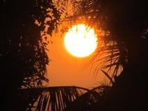 L'insieme del sole Fotografia Stock