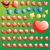 L'insieme della bolla di discorso ed il dialogo balloon la fonte tipografica Immagini Stock Libere da Diritti