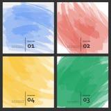 L'insieme della spazzola colorata segna le pitture variopinte Immagini Stock Libere da Diritti