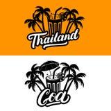 L'insieme della Tailandia e Goa passano l'iscrizione scritta Immagine Stock Libera da Diritti