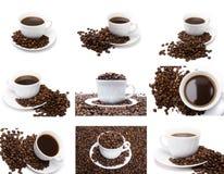 L'insieme della tazza di caffè Fotografia Stock Libera da Diritti