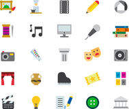 L'insieme delle arti ha collegato le icone piane di web illustrazione vettoriale