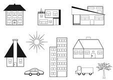 L'insieme delle costruzioni royalty illustrazione gratis