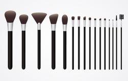 L'insieme delle spazzole del cosmetico per compone Fotografia Stock