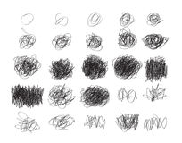 L'insieme dello scarabocchio disegnato a mano di lerciume circonda, EL di progettazione di logo di vettore Fotografia Stock