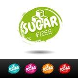 L'insieme dello zucchero libera i distintivi Etichette disegnate a mano di vettore illustrazione di stock